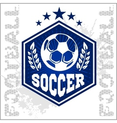 Football soccer badge patch and emblem for sport vector
