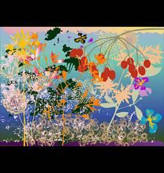 grunge garden vector image