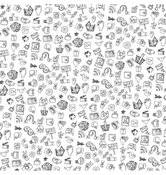 Social media icon patternbackgrounddoodle vector