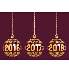 German new year elements for years 2016 - 2018 vector