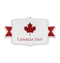 Canada day patriotic banner with ribbon vector