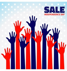 American Independence Day Sale for your design vector image vector image