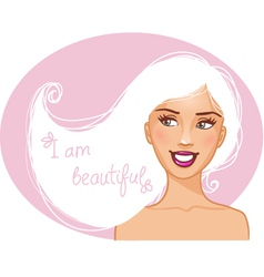 Beautiful girl with white hair vector image vector image