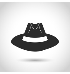 black hat icon vector image