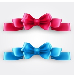 Blue and pink holiday ribbon vector image vector image