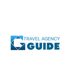 Blue logo for travel agency vector