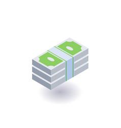 bundle of money icon symbol vector image vector image