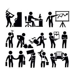 Business and worker vector