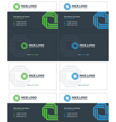business card technology vector image vector image