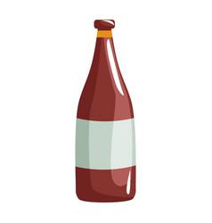 champagne bottle drink alcohol wedding celebration vector image vector image