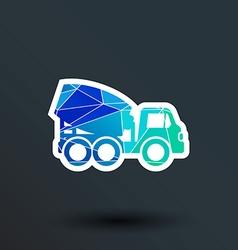Concrete mixer icon button logo symbol concept vector