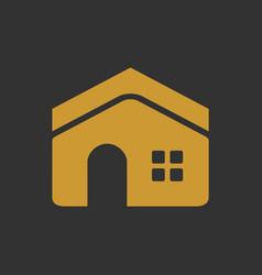 elegant golden luxury residence vector image