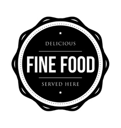 Fine food vintage stamp vector
