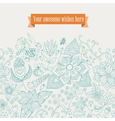 Floral background vintage retro background with vector