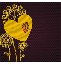 heart fo gold vector image vector image