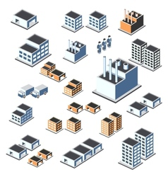 industrial buildings vector image