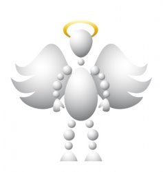 man as saint angel vector image