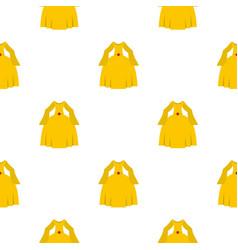 Princess dress pattern seamless vector