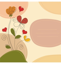 Romantic background with place for text vector image vector image