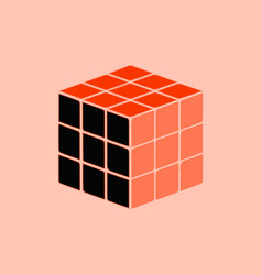 Rubik cube toy puzzle vector