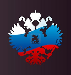 Russian coat of arms double-headed eagle emblem vector image
