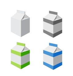 set of packs isolated vector image