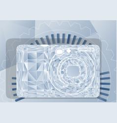 Simple photo camera vector
