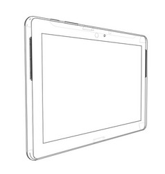 sketch of tablet pc vector image vector image