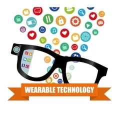 Smart glasses wearable technology gadget vector