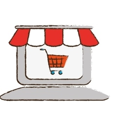 Store shop icon image vector