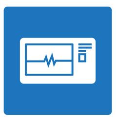 Thin line electrocardiogram icon vector
