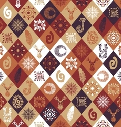 Winter seamless pattern with hand drawn elements vector image