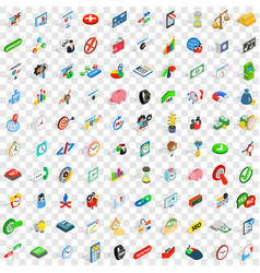 100 swap icons set isometric 3d style vector
