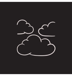 Clouds sketch icon vector image