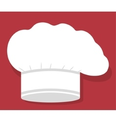 Hat of restaurant chef design vector