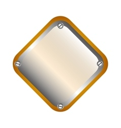 Metal plate isolated icon vector