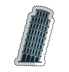 Pisa tower isolated icon vector