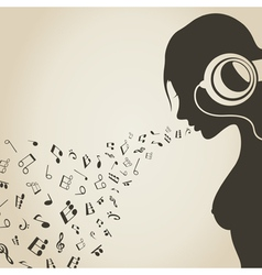 Music the girl vector