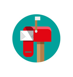 opened mailbox with regular mail vector image