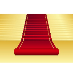 Background with red carpet vector