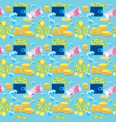 money coin currency seamless pattern vector image