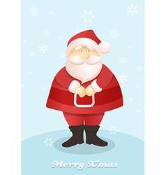 Standing Santa postcard vector image