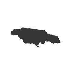 Jamaica map outline vector