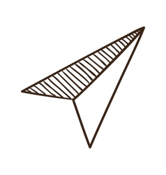 Paper airplane symbol vector