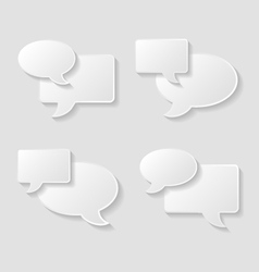 Speech bubble icons set vector