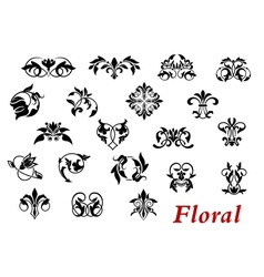 Floral ornamental elelments and vignettes vector