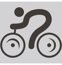 Cycling icon vector