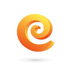 Letter c spiral logo icon design template elements vector