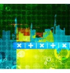 urban abstract print vector image