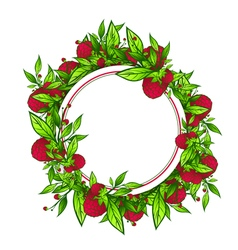 Raspberry empty round frame vector
